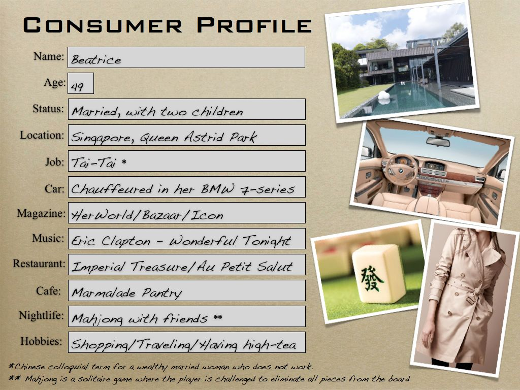 burberry consumer profile Ans: burberry's target customer is someone who wants luxury while being functional the brand's point of difference with other luxury brands is that they could be luxury, aspirational, and functional burberry decided they were going to reach these customers from bravo identifying their niche .